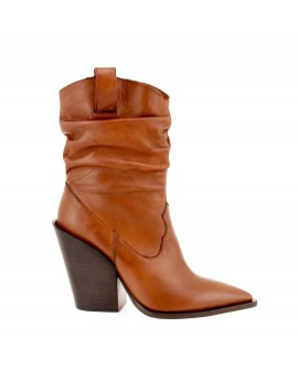 Botine Dama Atach Brown