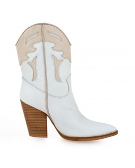 Botine Dama Love White