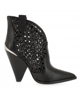 Botine Ametalic New Black